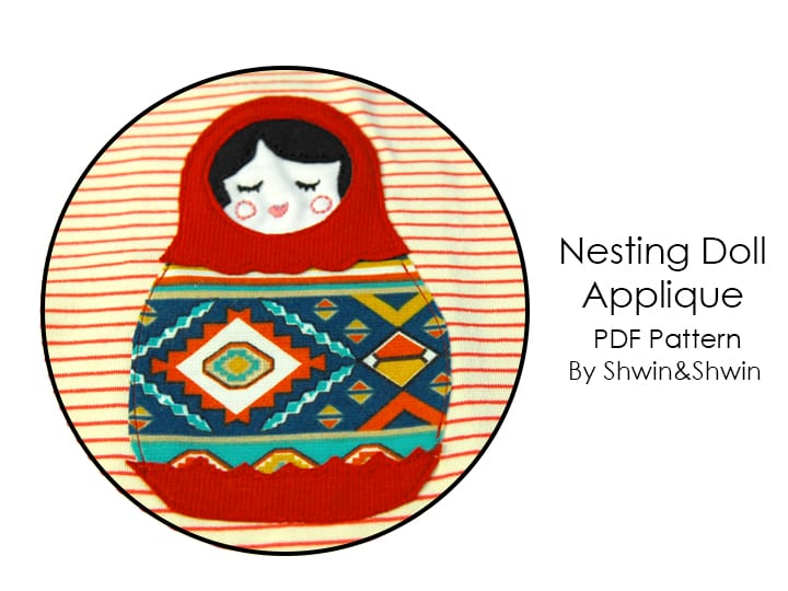 russian dolls applique
