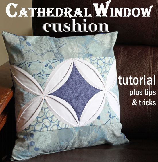 Cathedral window cushion
