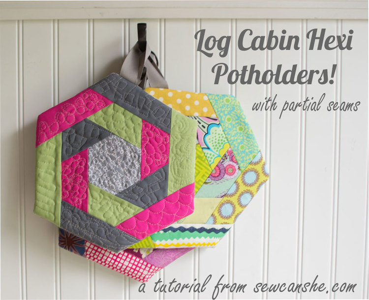 Log Cabin Potholder pattern - Sewing 4 Free : quilted potholder pattern - Adamdwight.com