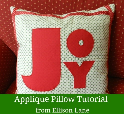 Applique Christmas pillows