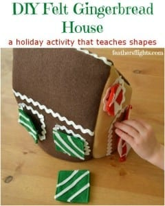 Felt Gingerbread House tutorial