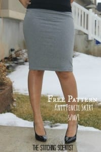Knit pencil skirt pattern