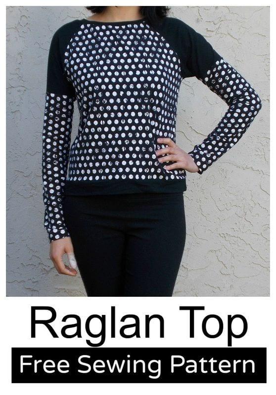 Free raglan top sewing pattern - Sewing 4 Free