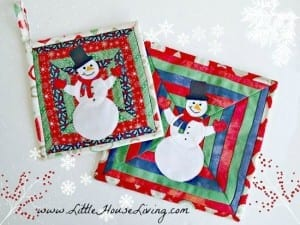 Snowman potholder pattern