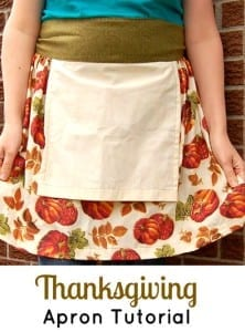 Thanksgiving apron pattern