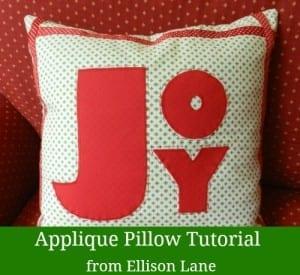 Applique Christmas pillows