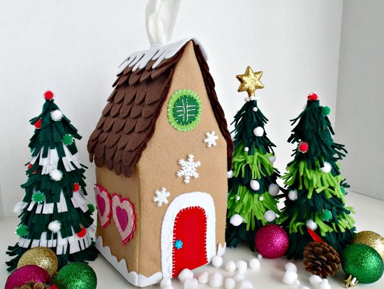 Felt gingerbread house pattern