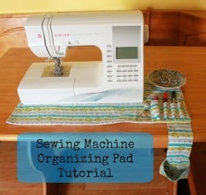 Sewing machine tidy