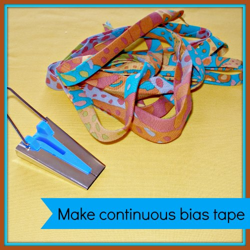 Making continuous bias tape binding