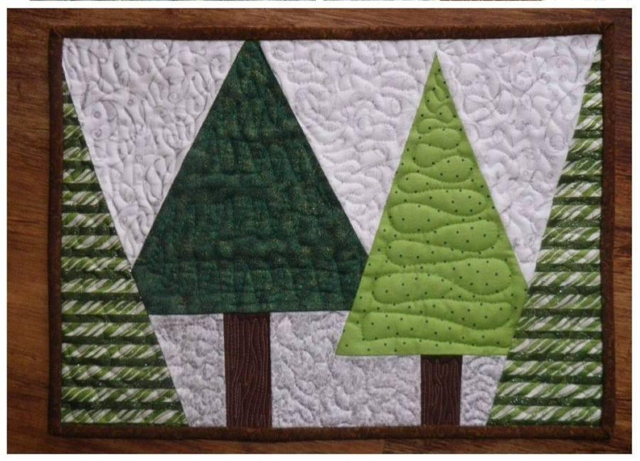 Christmas tree placemat pattern