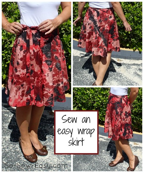 Half circle wrap skirt pattern