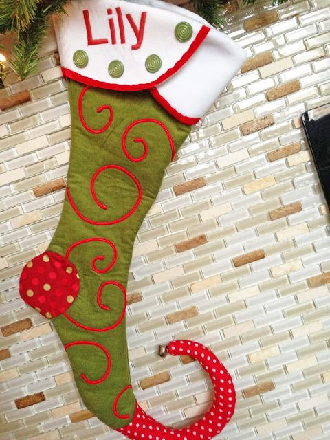 Personalized Christmas stocking pattern