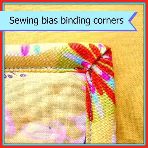 How to turn corners with bias binding
