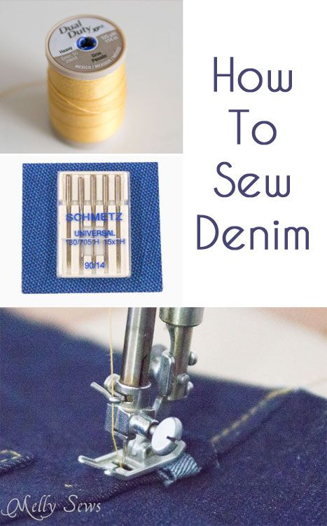 How to sew denim