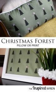Chrismas forest pillow