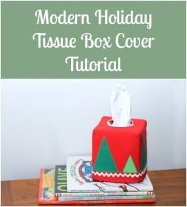 Christmas tissue box cover