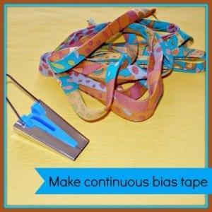 Making continuous bias tape binding