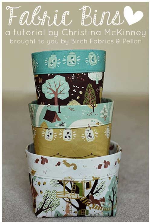 Fabric bins pattern
