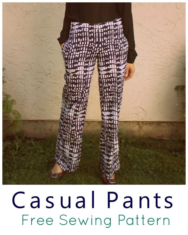 Ladies casual pants pattern