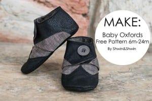 Baby oxford shoe pattern