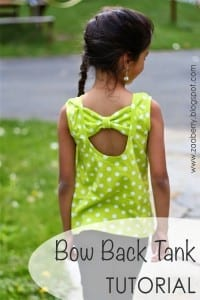 Bow back tank top diy