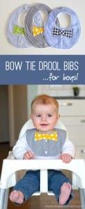 Bow tie bib tutorial