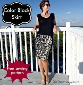 Color block skirt pattern