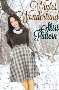 Free winter skirt pattern