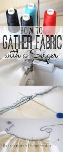 Gathering fabric with a serger