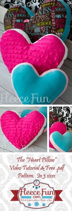Heart Pillow Pattern And Tutorial Sewing 4 Free