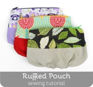 Ruffled pouch tutorial