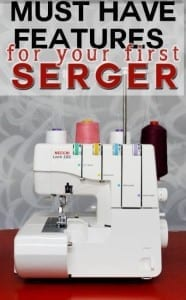 Serger sewing machine features