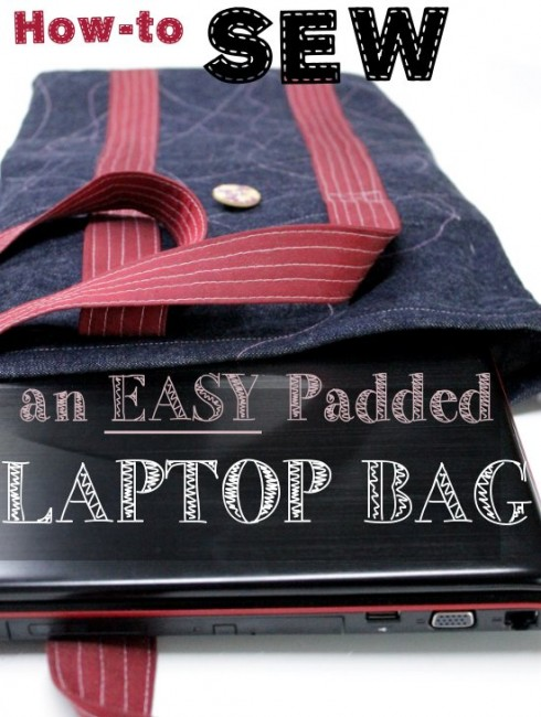 Padded laptop bag tutorial