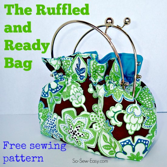 Free ruffle bag pattern