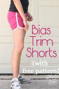 Bias trim shorts