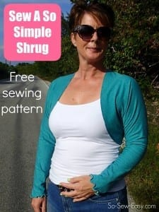 Free shrug pattern to sew