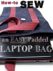 Padded laptop bag tutorial