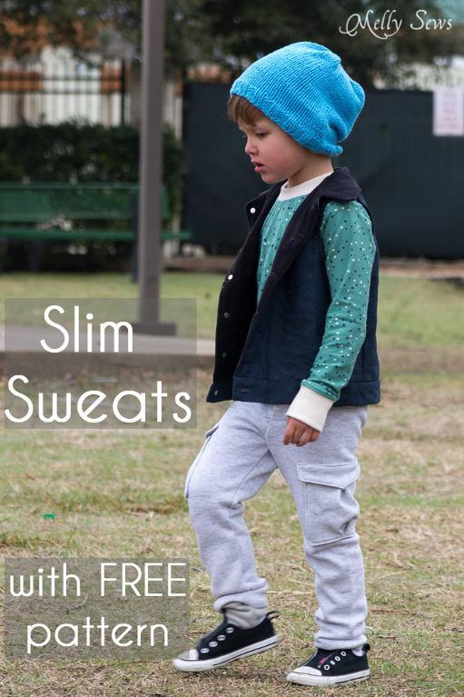 Slim sweatpants pattern