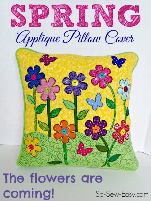 Applique pillow cover tutorial