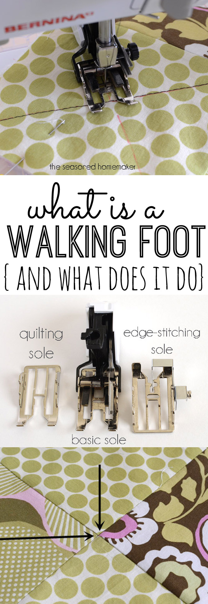 Walking foot sewing tips