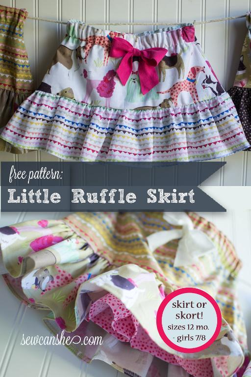 Little girl ruffle skirt tutorial