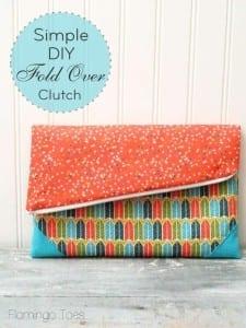 Fold over clutch pattern