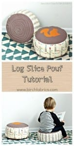 Log slice pouf tutorial