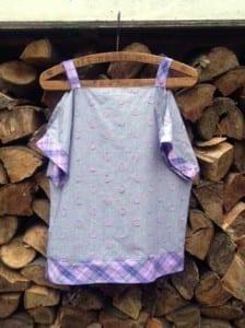 Open shoulder top sewing pattern