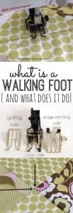 Walking foot sewing tips