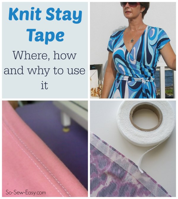 How to use knit stay tape