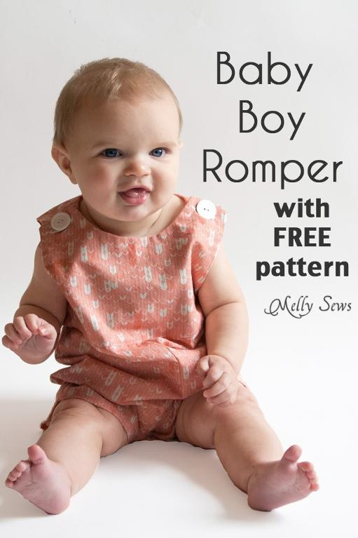 Baby boy romper sewing pattern - Sewing 4 Free