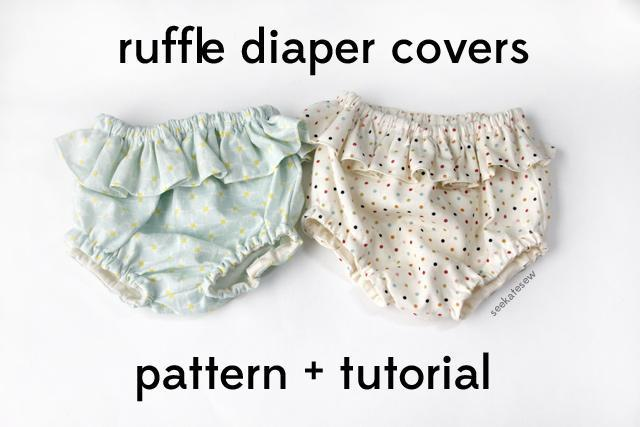 Free ruffle diaper cover sewing pattern