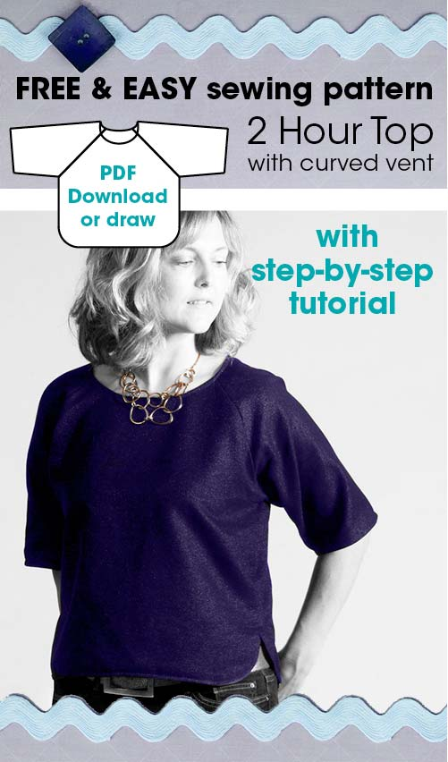 Quick and Easy top pattern - Sewing 4 Free