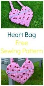 Heart shaped bag tutorial